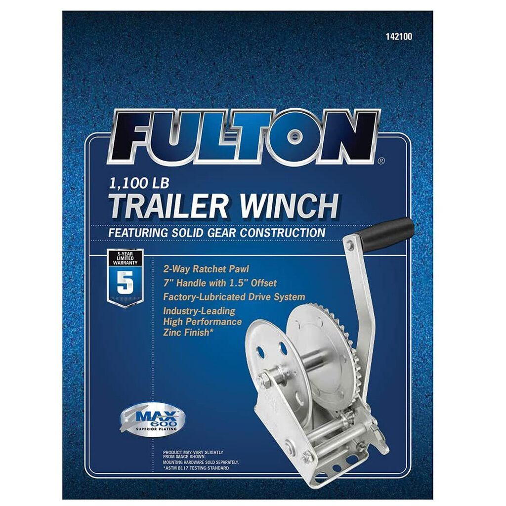 Fulton 142100 Single Speed Winch - 1100 lbs. Capacity