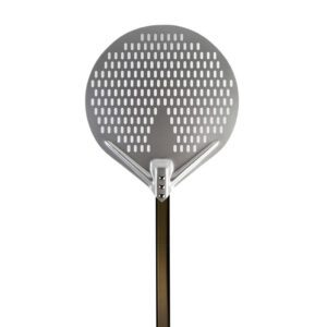 Round Perforated Pizza Peel With Handle