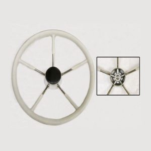 Stainless Steel Boat Steering Wheel Poly White