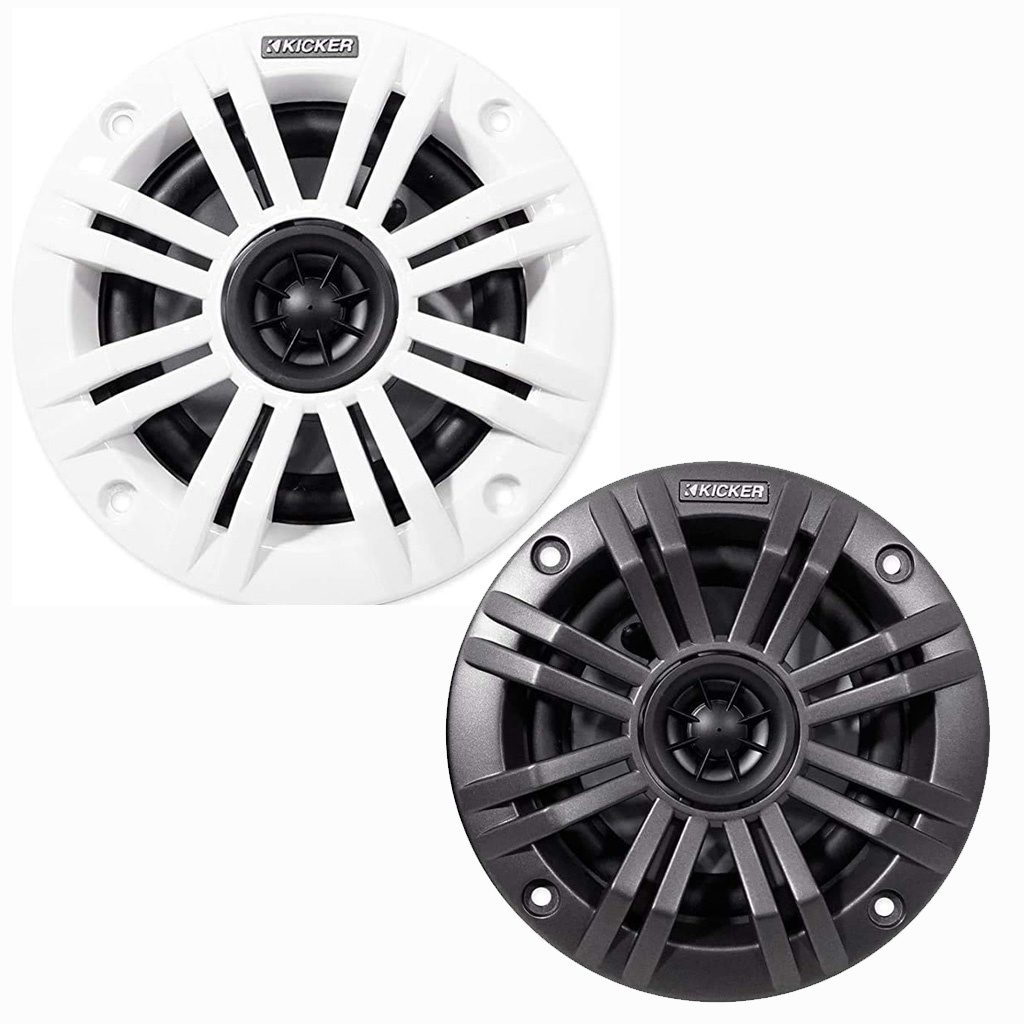 Kicker Coaxial Speaker Tweeter Charcoal 45KM44